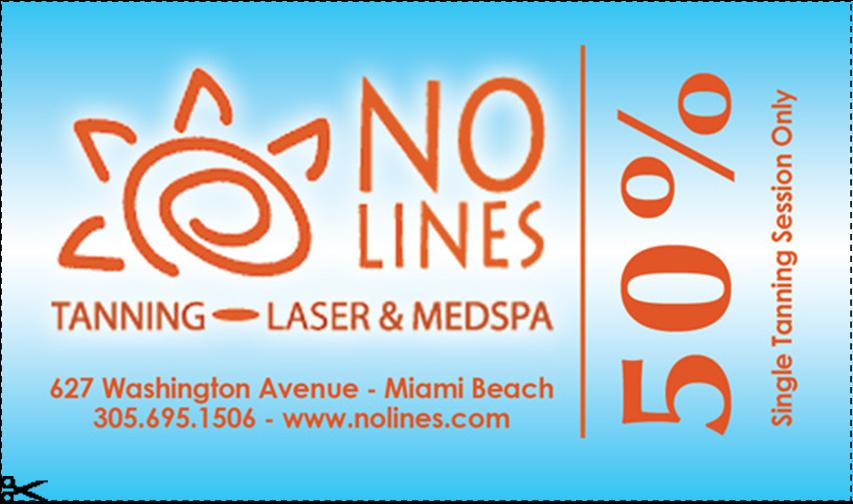 NO Lines 50% OFF Single Tanning Session